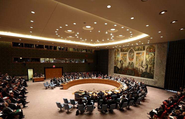 Заседание Совета безопасности ООН в Нью-Йорке
