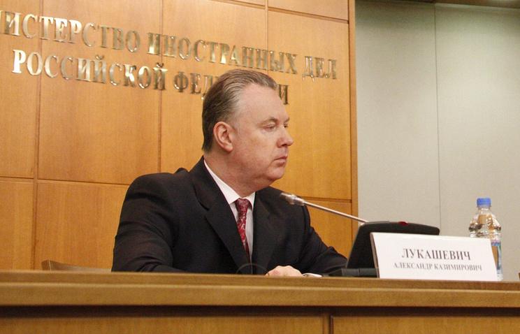 Официальный представитель МИД России Александр Лукашевич
