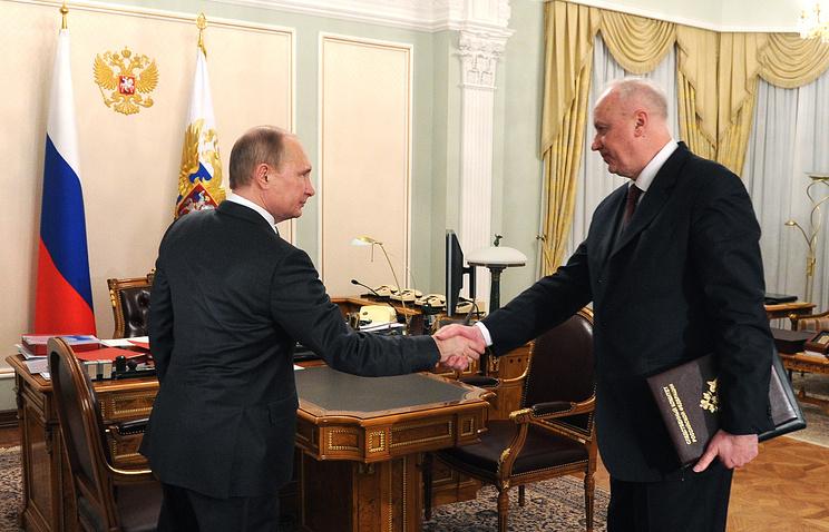 Президент России Владимир Путин и председатель Следственного комитета РФ Александр Бастрыкин