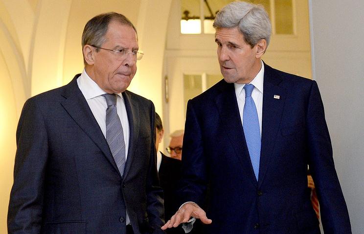 Глава МИД РФ Сеогей Лавров и госсекретарь США Джон Керри