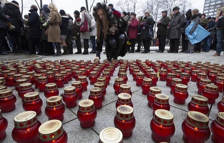 Прощание с Борисом Немцовым в Сахаровском центре в Москве