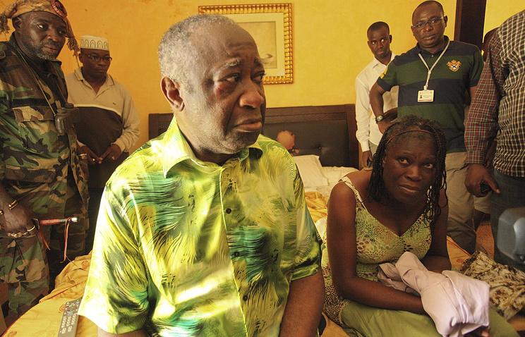 Бывший президент Кот-д'Ивуара Лоран Гбагбо и Симона Гбагбо