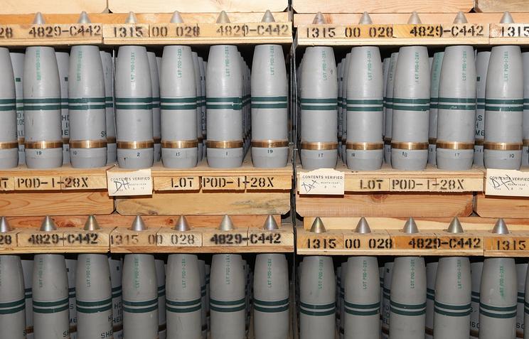 Снаряды с ипритом, которые хранятся в бункере на заводе в городе Пуэбло