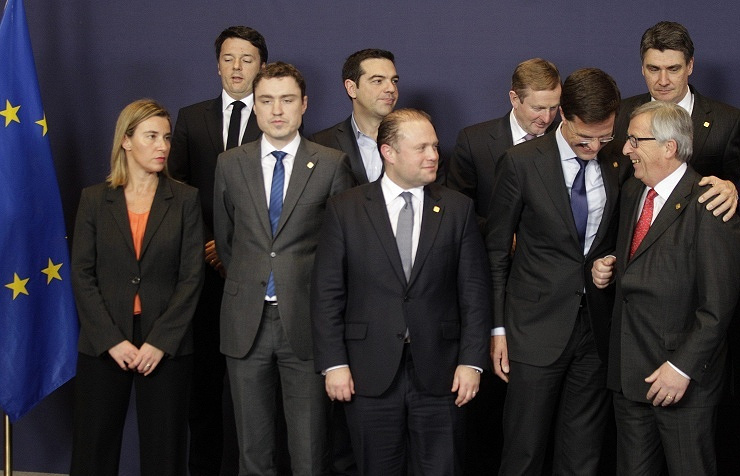 Саммит глав государств и правительств стран ЕС в Брюсселе в феврале 2015 г.