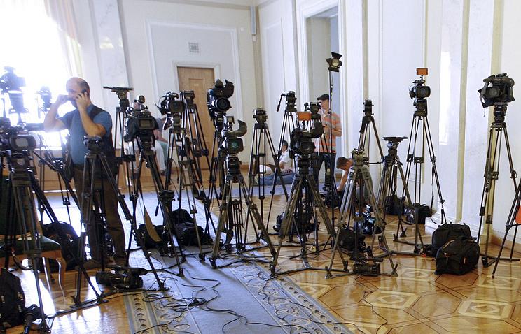 Журналисты во время заседания Верховной рады Украины