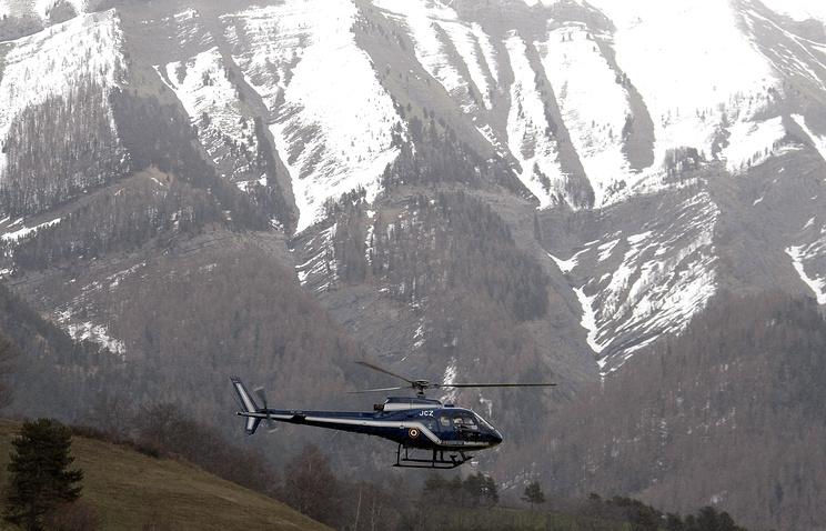 Поисковая операция в районе катастрофы в Альпах