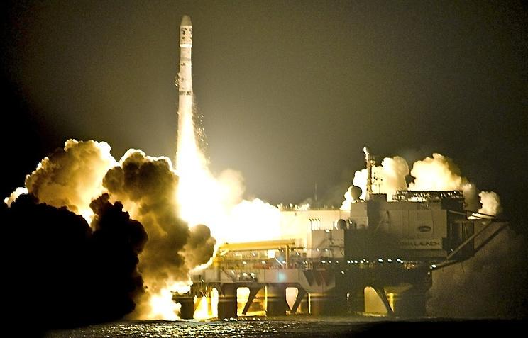 Запуск ракеты с плавучего космодрома
