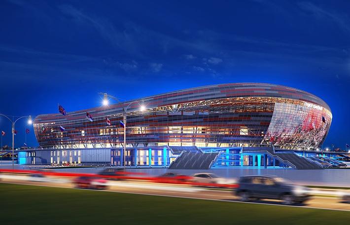 Проект стадиона в Саранске