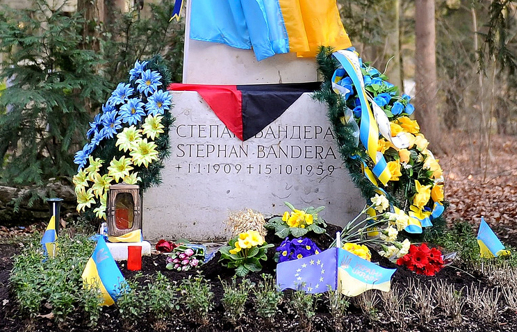 Могила Степана Бандеры в Мюнхене