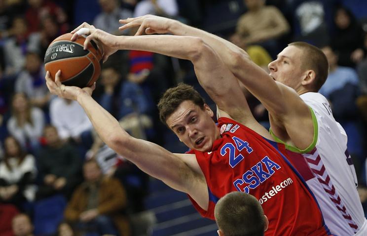 Баскетболист ЦСКА Александр Каун