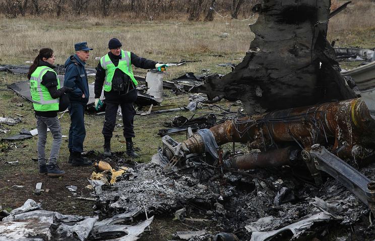 На месте падения  Boeing 777 в Донецкой области