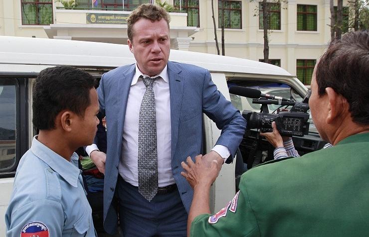 Российский бизнесмен Сергей Полонский в Камбодже