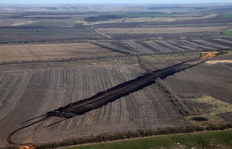 Работы по строительству железной дороги в обход Украины из города Журавка Воронежской области в город Миллерово Ростовской области