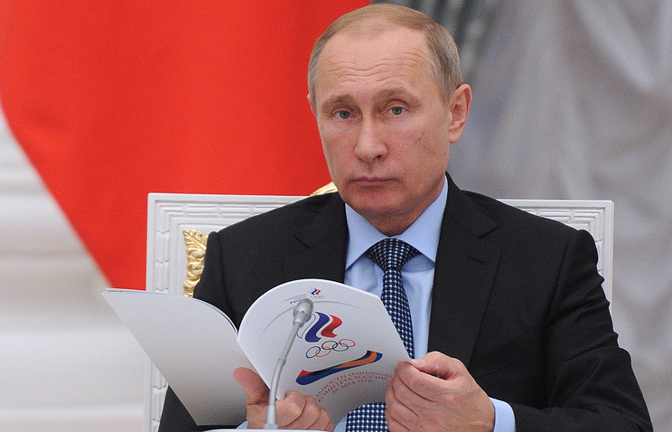 Президент РФ Владимир Путин на заседании Совета по развитию физической культуры и спорта в Кремле