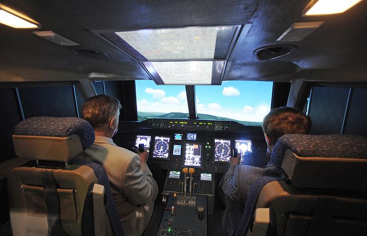 Салон тренажера военно-транспортного самолета Ил-112В