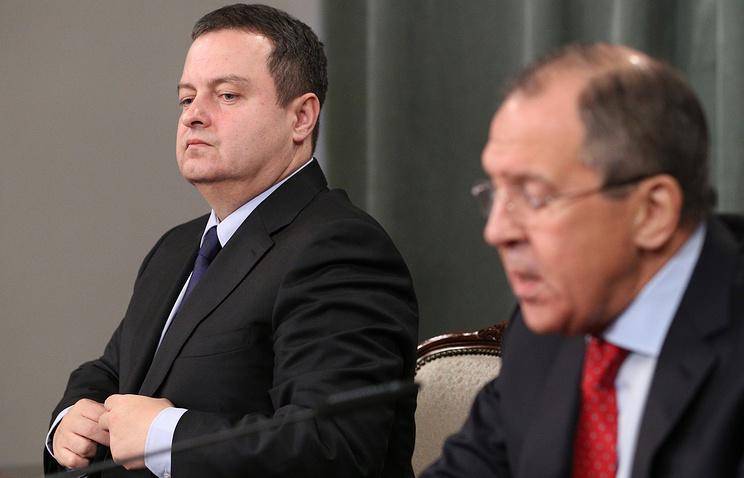 Министр иностранных дел Сербии Ивица Дачич и министр иностранных дел России Сергей Лавров