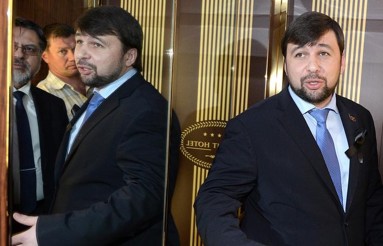 Представитель Донецкой народной республики Денис Пушилин
