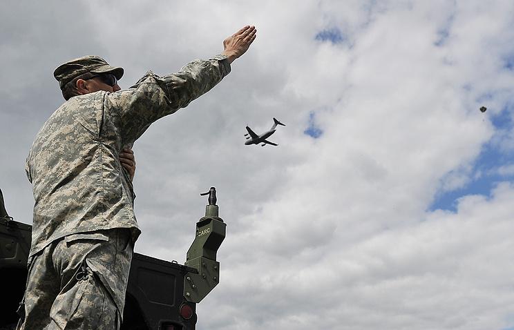 Американский военнослужащий на совместных учениях в Польше