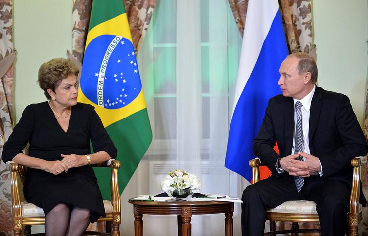 Президент Бразилии Дилма Руссефф и президент России Владимир Путин