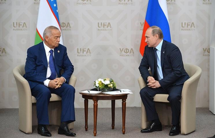 Президент Республики Узбекистан Ислам Каримов и президент Российской Федерации Владимир Путин