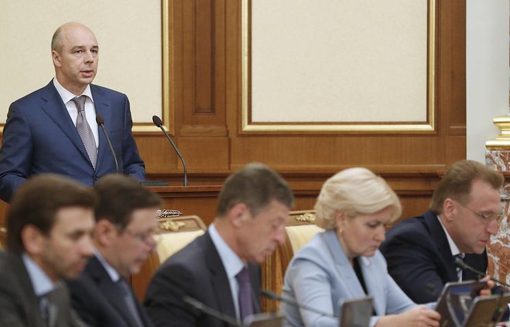 Министр финансов РФ Антон Силуанов на заседании правительства РФ
