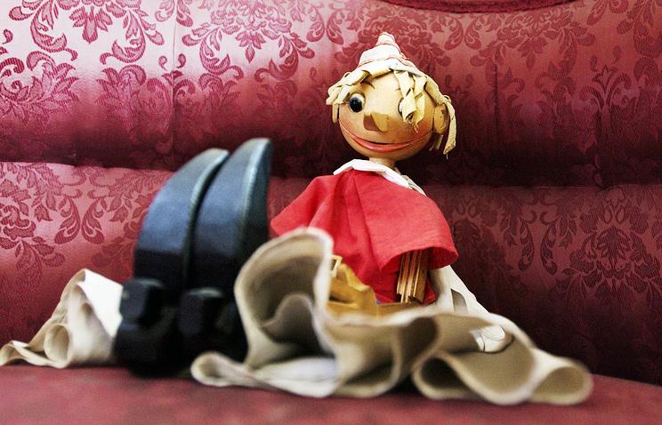 Кукла Буратино - один из экспонатов Музея-квартиры А.Н.Толстого
