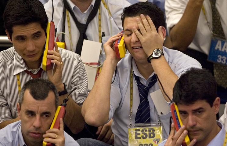Трейдеры на бирже в Сан-Паулу