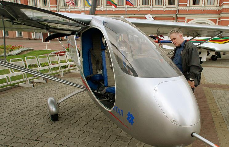 """Самолет """"Синтал"""" С-2 на салон малой авиации в Нижнем Новгороде"""