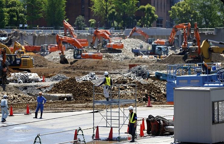 Строительство Олимпийского стадиона в Токио