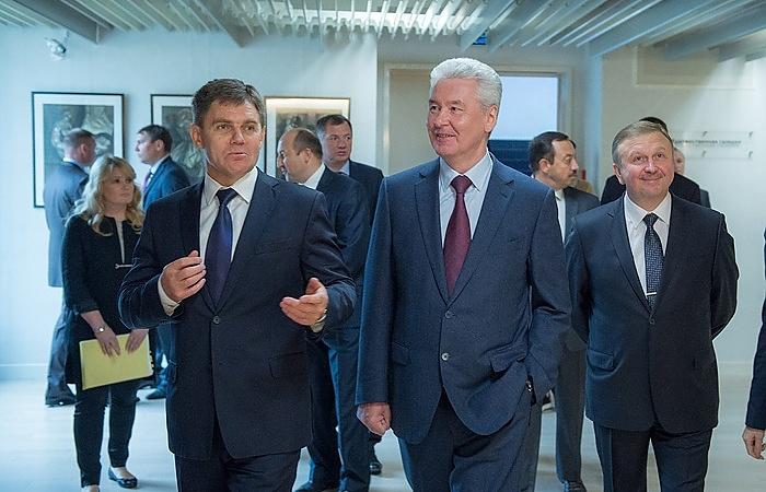 Мэр Москвы Сергей Собянин и премьер-министр Республики Беларусь Андрей Кобяков