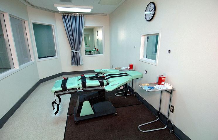 Комната для смертельных инъекций в тюрьме