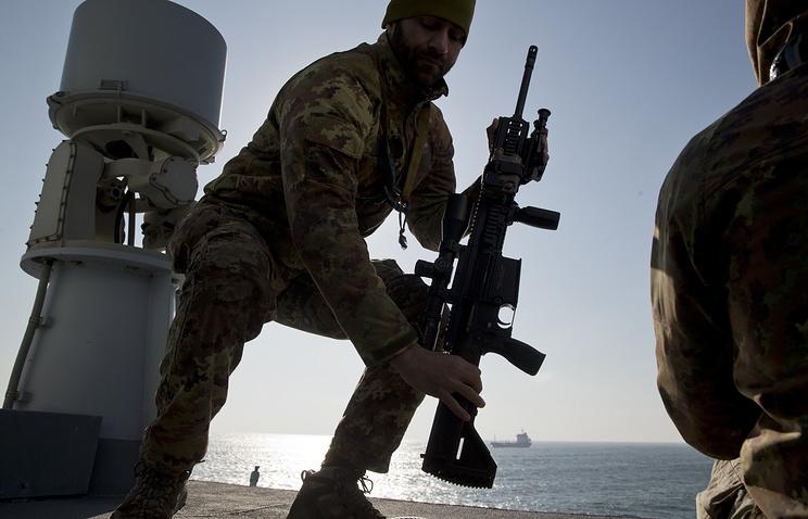 Во время учений НАТО на Черном море, 2015 год