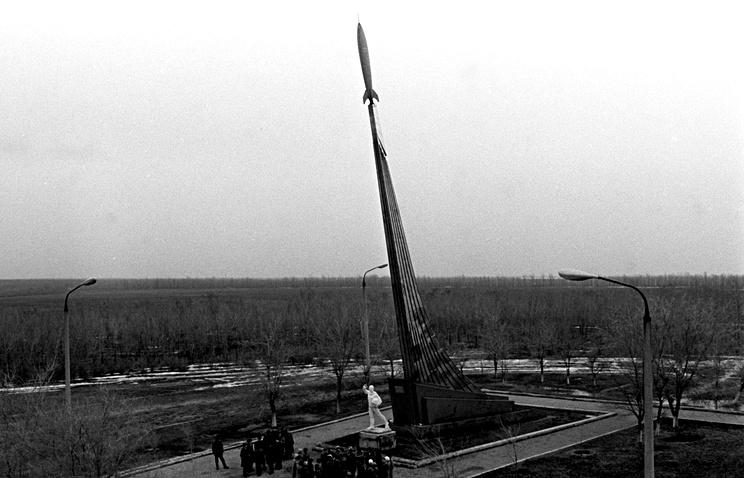 Место приземления Юрия Гагарина в окрестностях села Терновка Энгельского района Саратовской области