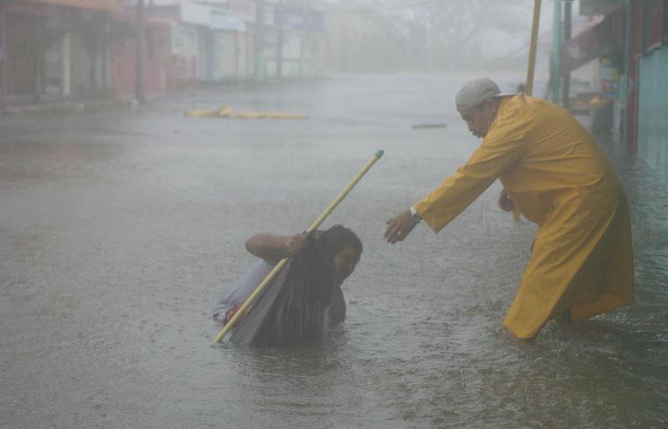 Наводнение в городе Четумаль, Мексика