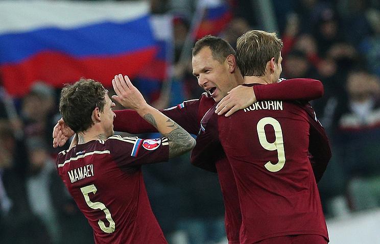 Футболисты сборной России после выхода на Евро-2016
