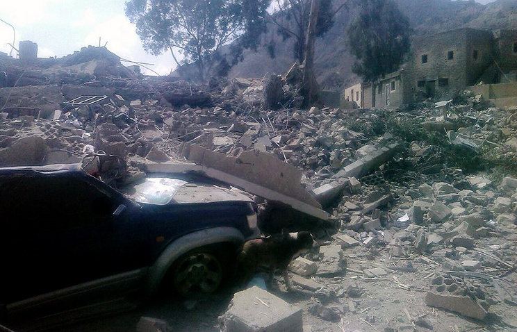 Разрушенная больница в районе Хайдан (провинция Саада), Йемен