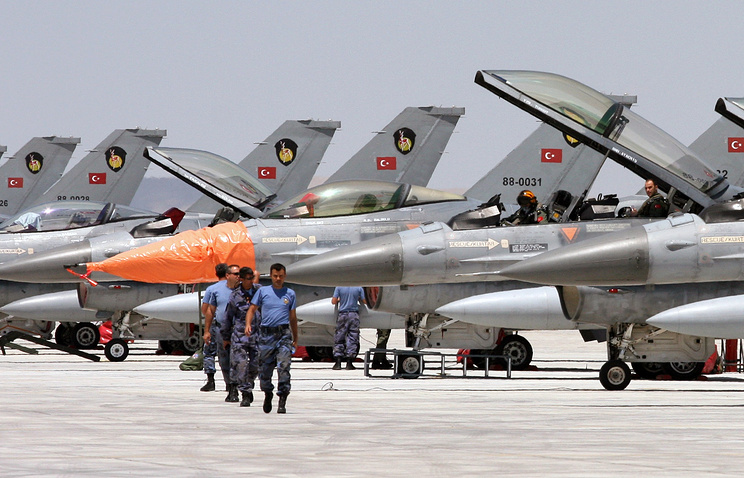 Турецкие истребители F-16