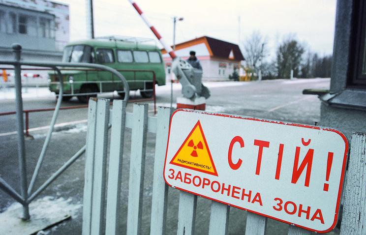 КПП на въезде в зону отчуждения Чернобыльской АЭС
