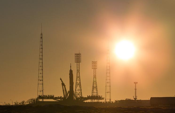 Стартовая площадка космодрома Байконур