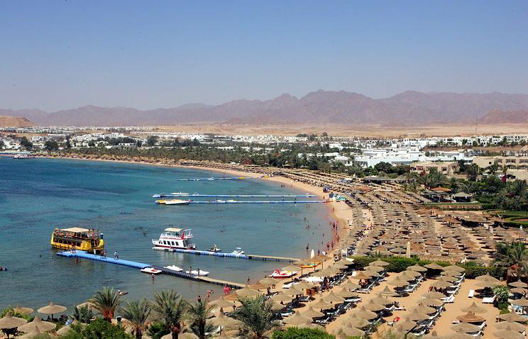 Вид на пляж Шарм- эш-Шейха, Египет