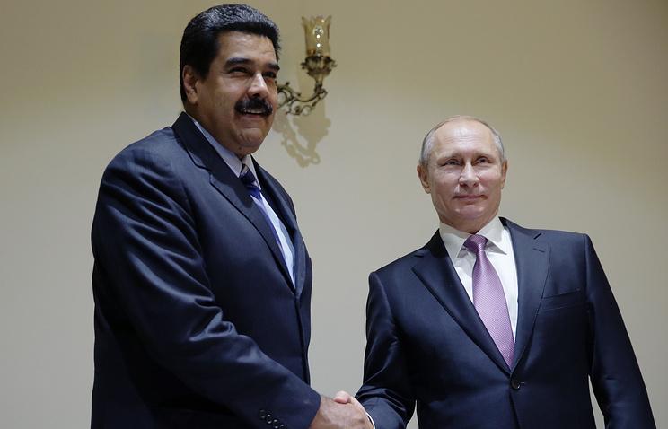 Президент Венесуэлы Николас Мадуро и президент России Владимир Путин