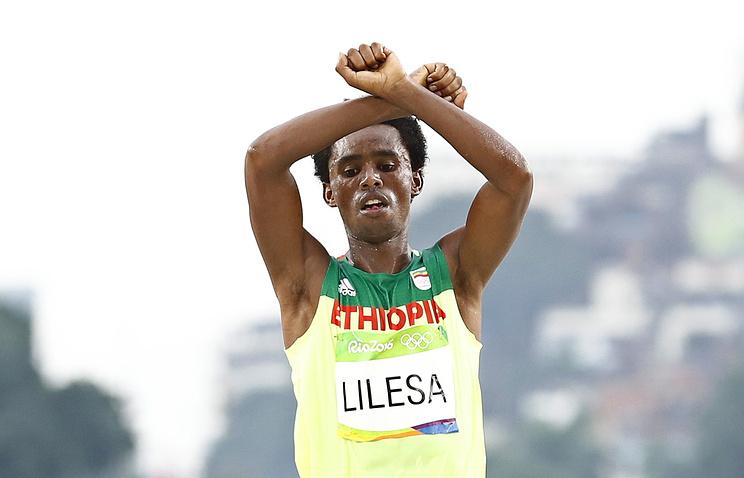 Рио-2016. Эфиопский бегун боится возвращаться на отчизну после Олимпиады