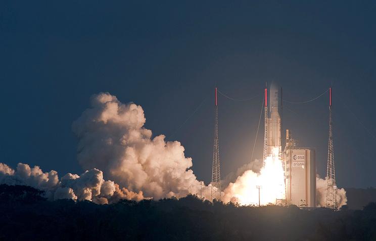 Ракета Ariane-5 соспутниками связи стартовала скосмодрома «Куру»