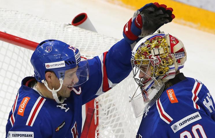 СКА обыграл минское «Динамо» вКХЛ, одержав четвертую победу подряд