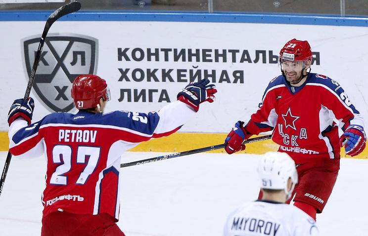 ЦСКА обыграл «Югру» вматче чемпионата КХЛ