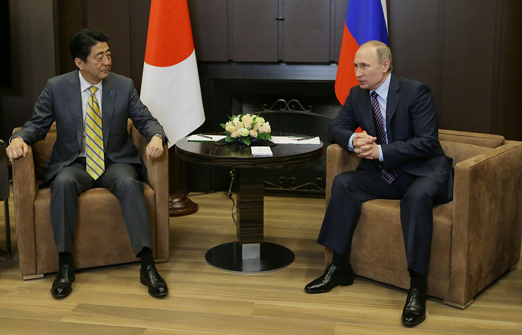 Японский премьер хочет провести переговоры сПутиным «вспокойной обстановке»