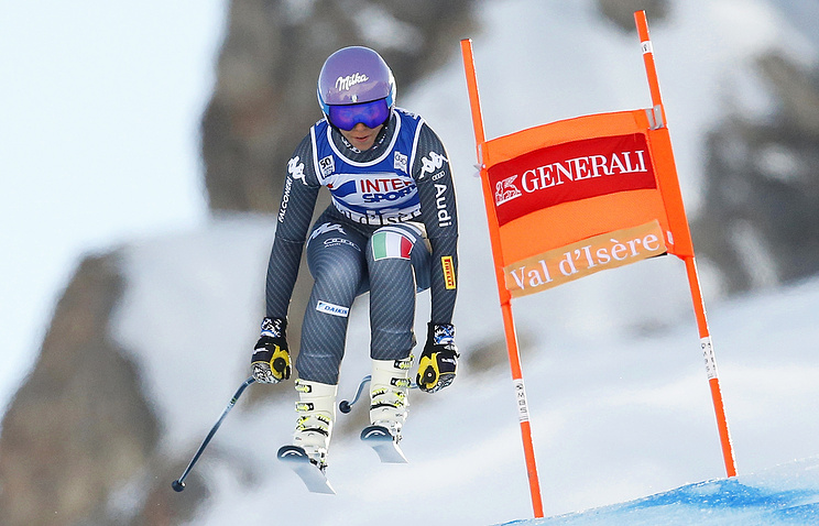 Итальянская горнолыжница вылетела страссы наскорости 100 километров вчас