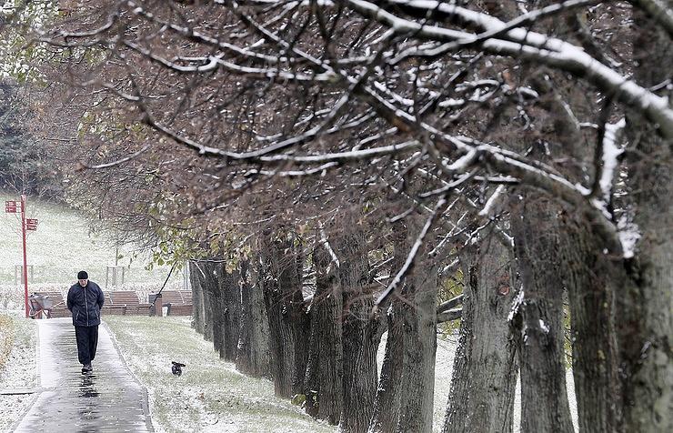 Вконце рабочей недели вПетербурге реален мокрый снег