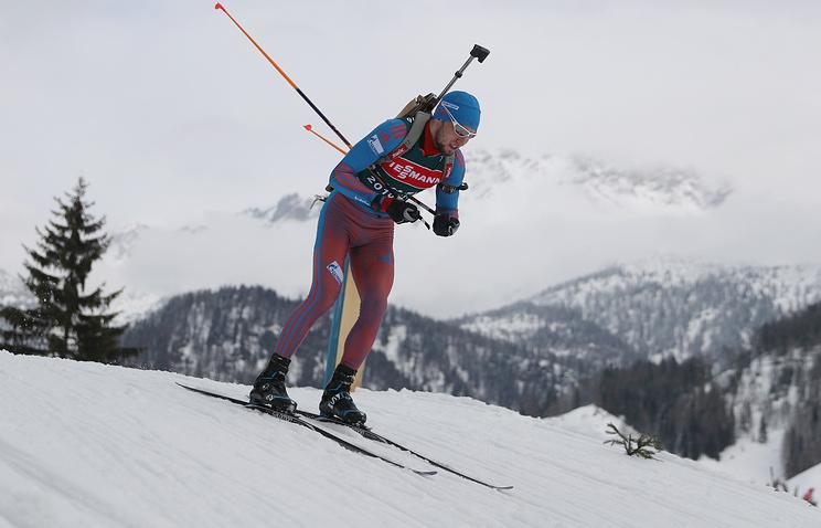 Русский биатлонист Логинов одержал победу гонку преследования наэтапе Кубка IBU