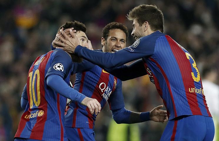 «Барселона» разгромила ПСЖ 6:1 ивышла в ¼ Лиги чемпионов